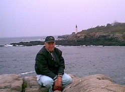 Me at Portland Headlight, Cape Elizabeth, Maine